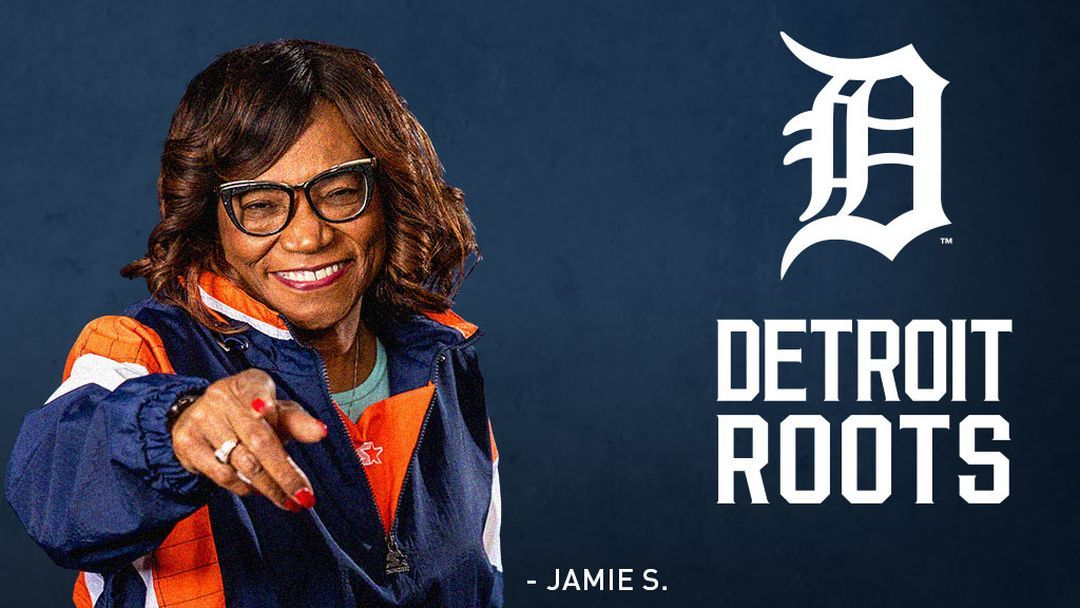 Detroit Tigers fan Jamie S. roots for her team.