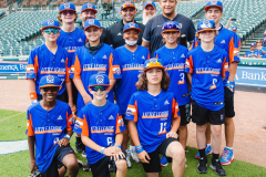 Taylor North Little League during a game against the Oakland Athletics at Comerica Park in Detroit, Michigan on August 31, 2021. (Allison Farrand / Detroit Tigers) (Taylor North Little League during a game against the Oakland Athletics at Comerica Par