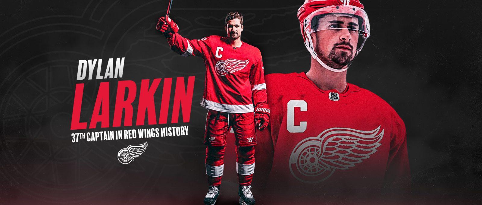Hockey player wearing red uniform